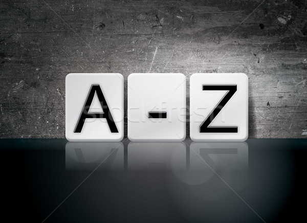 A-Z Tiled Letters Concept and Theme Stock photo © enterlinedesign