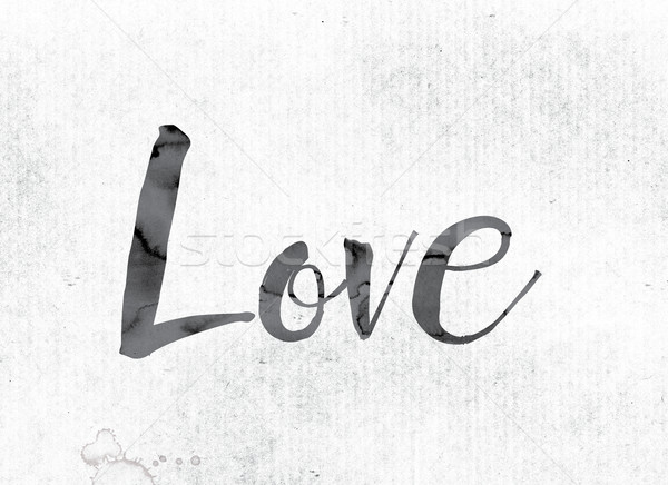 Love Concept Painted in Ink Stock photo © enterlinedesign