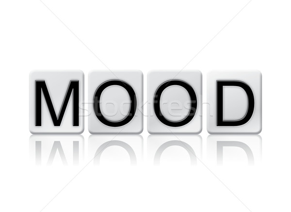 Mood Isolated Tiled Letters Concept and Theme Stock photo © enterlinedesign