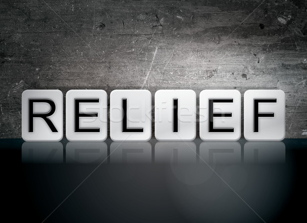 Stock photo: Relief Tiled Letters Concept and Theme