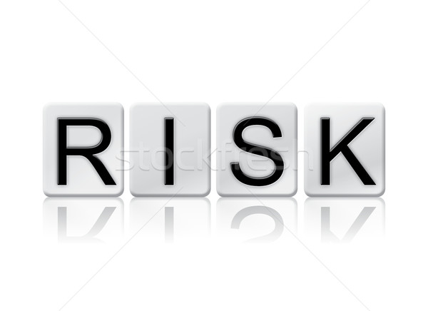Risk Isolated Tiled Letters Concept and Theme Stock photo © enterlinedesign