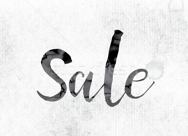 Sale Concept Painted in Ink Stock photo © enterlinedesign