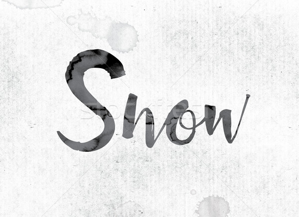 Snow Concept Painted in Ink Stock photo © enterlinedesign