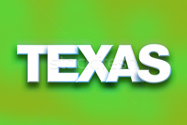Texas kolorowy słowo sztuki napisany biały Zdjęcia stock © enterlinedesign