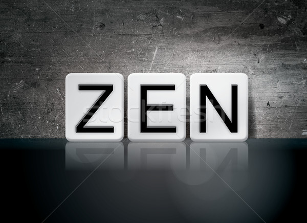 Zen Tiled Letters Concept and Theme Stock photo © enterlinedesign