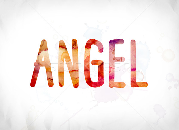 Angel Concept Painted Watercolor Word Art Stock photo © enterlinedesign