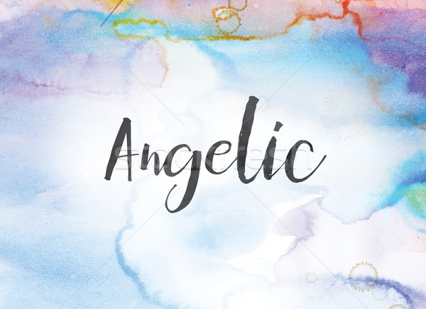 Angelic Concept Watercolor and Ink Painting Stock photo © enterlinedesign