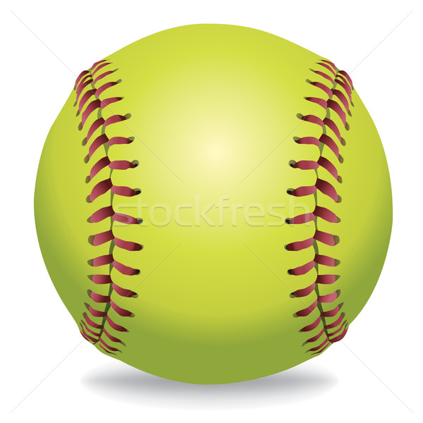 Softball Isolated on White Illustration  Stock photo © enterlinedesign