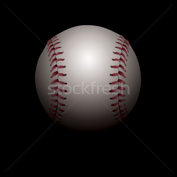 Shadowed Baseball Illustration Stock photo © enterlinedesign