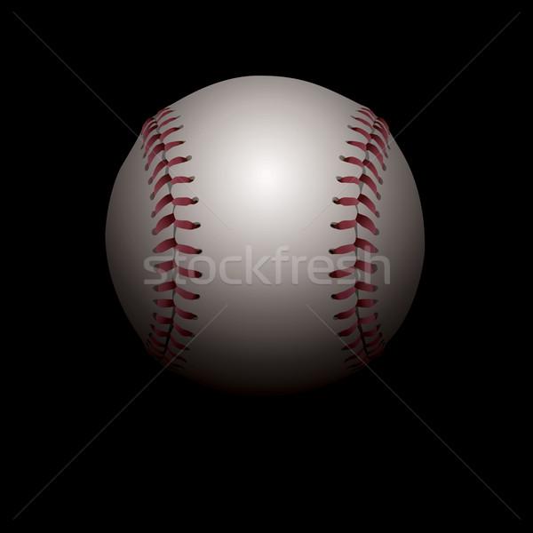 Baseball illustration réaliste ombres chambre Photo stock © enterlinedesign