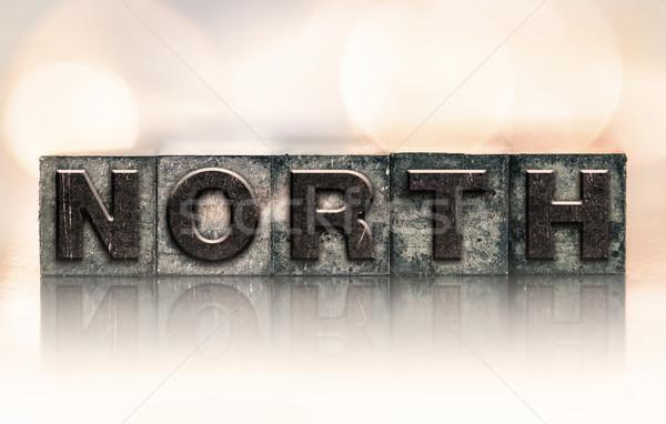 North Concept Vintage Letterpress Type Stock photo © enterlinedesign
