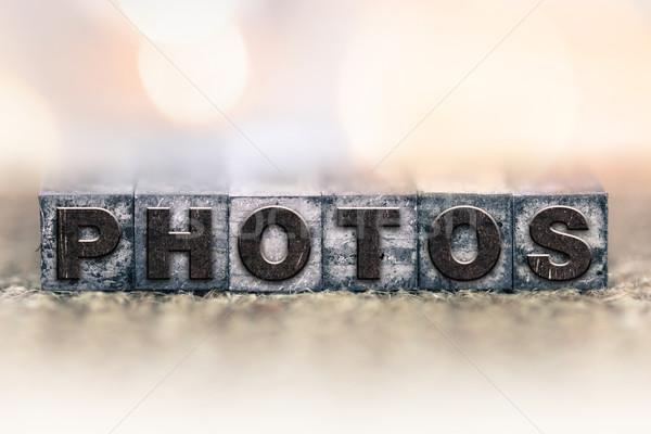 Photos Concept Vintage Letterpress Type Stock photo © enterlinedesign
