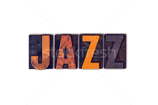 Jazz  Concept Isolated Letterpress Type Stock photo © enterlinedesign