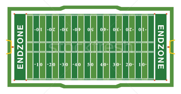 American Football Field Aerial View Illustration Stock photo © enterlinedesign