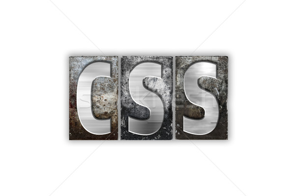 CSS Concept Isolated Metal Letterpress Type Stock photo © enterlinedesign