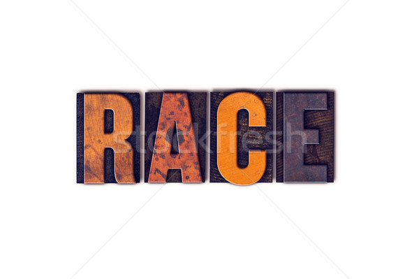 Race Concept Isolated Letterpress Type Stock photo © enterlinedesign