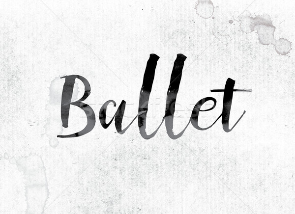 Ballet Concept Painted in Ink Stock photo © enterlinedesign