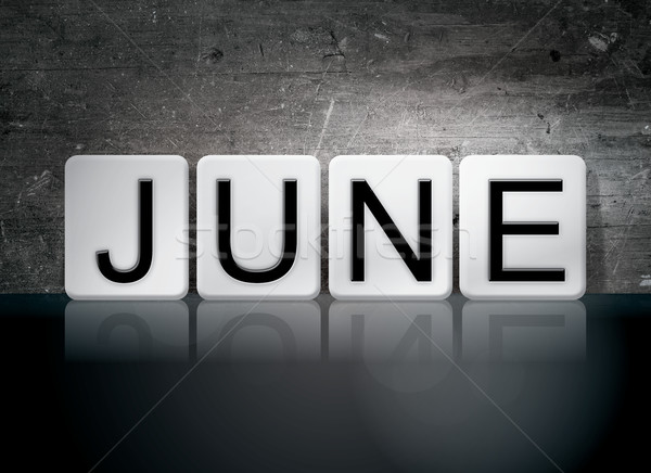 June Tiled Letters Concept and Theme Stock photo © enterlinedesign