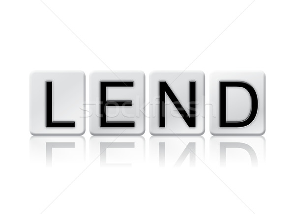 Lend Isolated Tiled Letters Concept and Theme Stock photo © enterlinedesign