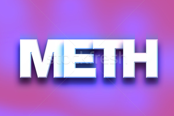 Meth Concept Colorful Word Art Stock photo © enterlinedesign