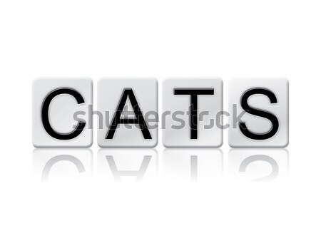 STD Isolated Tiled Letters Concept and Theme Stock photo © enterlinedesign