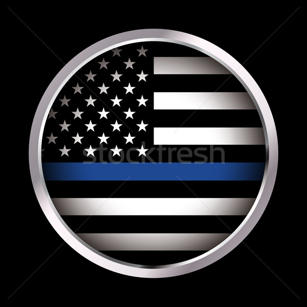 Law Enforcement Support Flag Icon Illustration Stock photo © enterlinedesign