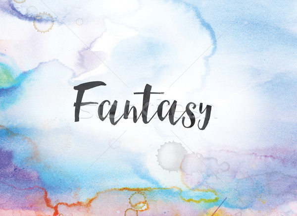 Fantasy Concept Watercolor and Ink Painting Stock photo © enterlinedesign