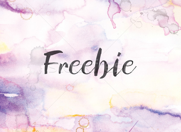 Freebie Concept Watercolor and Ink Painting Stock photo © enterlinedesign