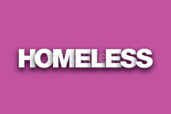 Homeless Theme Word Art on Colorful Background Stock photo © enterlinedesign