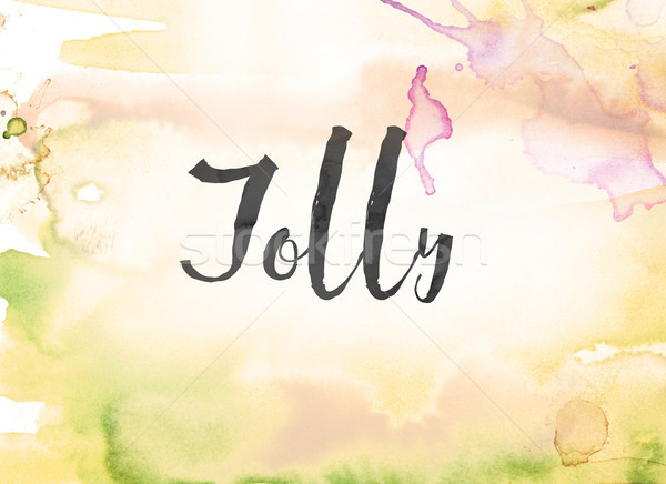 Jolly Concept Watercolor and Ink Painting Stock photo © enterlinedesign