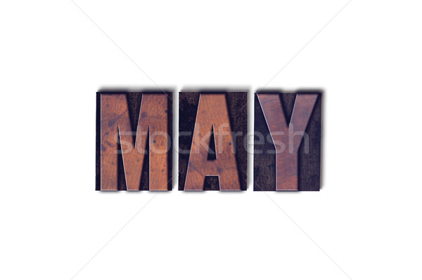 Stock photo: May Concept Isolated Letterpress Word