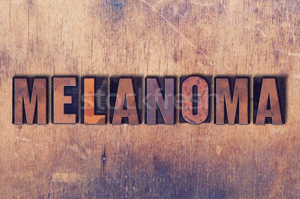 слово древесины написанный Vintage Сток-фото © enterlinedesign