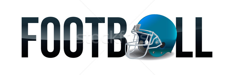 American Football Helmet Word Art Illustration Stock photo © enterlinedesign