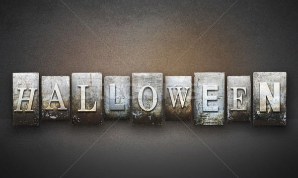 Halloween Letterpress Stock photo © enterlinedesign
