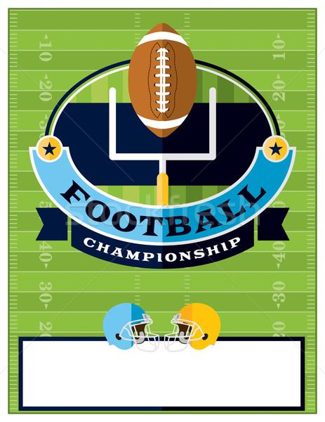 American Football Championship Flyer Illustration Stock photo © enterlinedesign