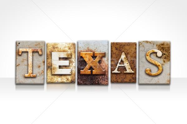 テキサス州 孤立した 白 言葉 書かれた ストックフォト © enterlinedesign