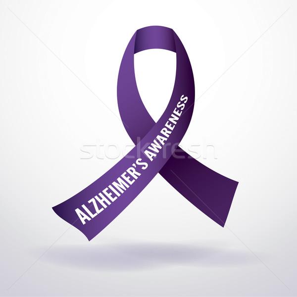 Alzheimer-kór tudatosság szalag illusztráció vektor eps Stock fotó © enterlinedesign