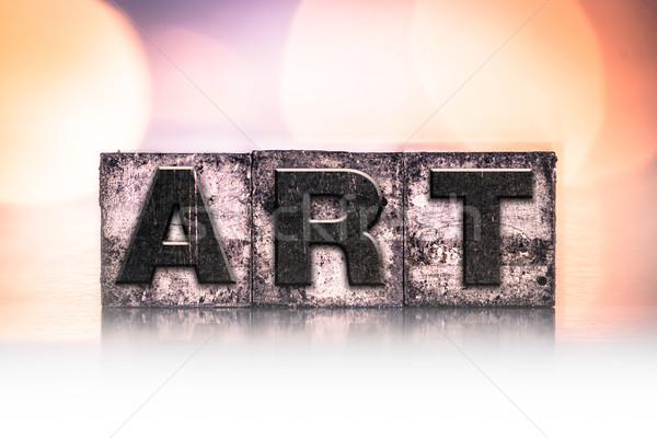 Art Concept Vintage Letterpress Type Stock photo © enterlinedesign