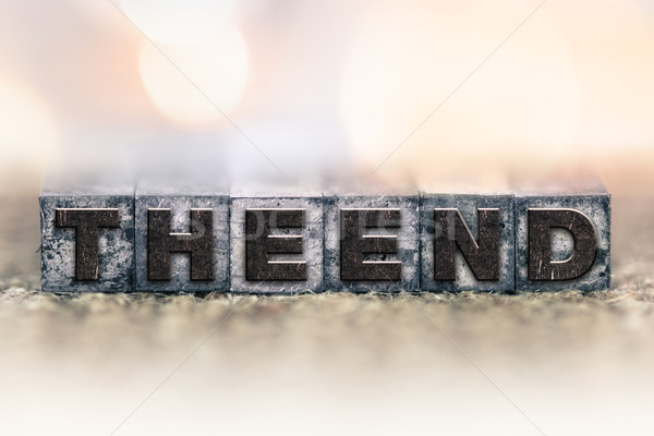 The End Concept Vintage Letterpress Type Stock photo © enterlinedesign