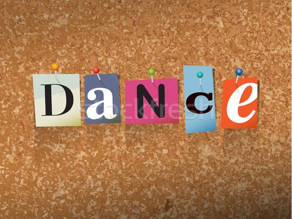 Dance Pinned Paper Concept Illustration Stock photo © enterlinedesign