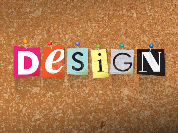 Design Pinned Paper Concept Illustration Stock photo © enterlinedesign