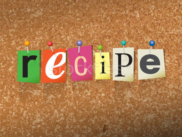 Recipe Pinned Paper Concept Illustration Stock photo © enterlinedesign