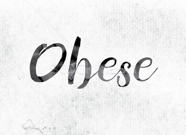 Obese Concept Painted in Ink Stock photo © enterlinedesign