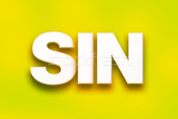 Sin Concept Colorful Word Art Stock photo © enterlinedesign