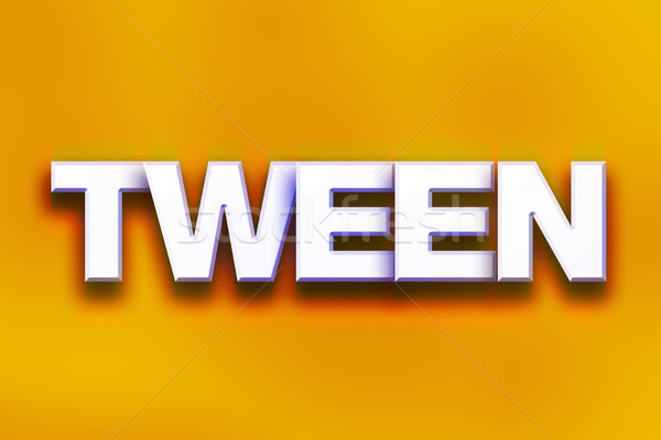 Tween Concept Colorful Word Art Stock photo © enterlinedesign