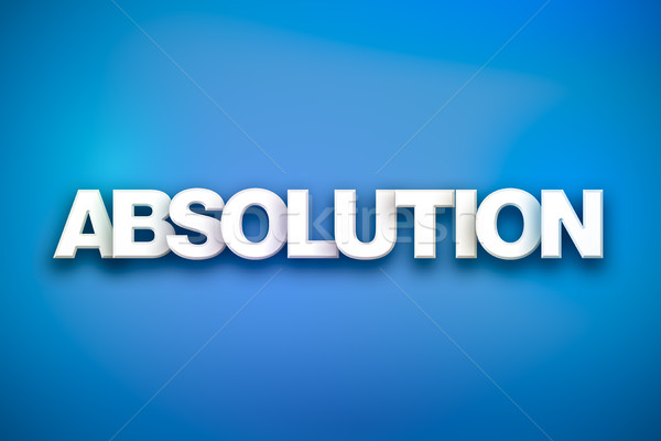Absolution Theme Word Art on Colorful Background Stock photo © enterlinedesign