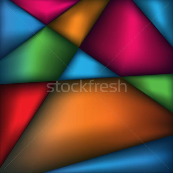 Resumen triángulo colores ilustración geométrico vector Foto stock © enterlinedesign