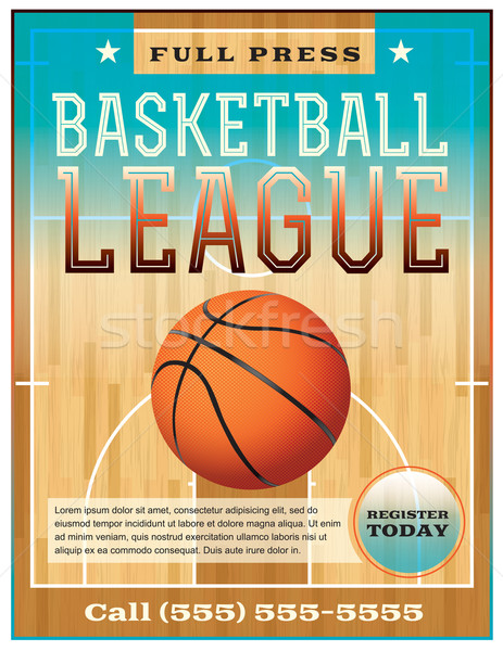Basketbal competitie flyer poster perfect Stockfoto © enterlinedesign