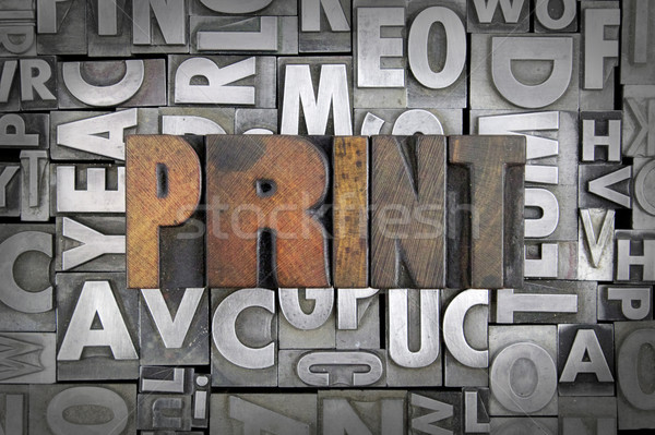 Print Stock photo © enterlinedesign
