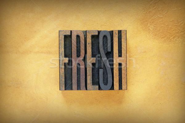 Fresh Letterpress Stock photo © enterlinedesign